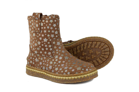 Ocra Girls Brown Suede Boot with Stars