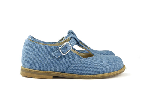 Manuela de Juan Light Blue Denim T-Bar