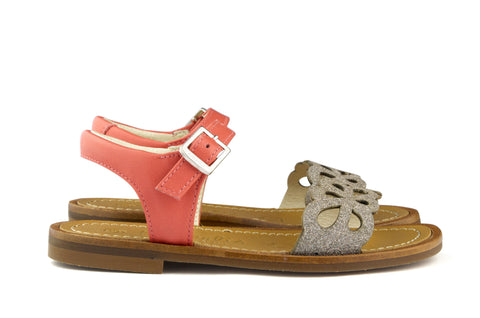 Beberlis Girls Coral Flower Sandal