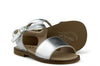 Eli1957 Girls Metallic Silver Sandal