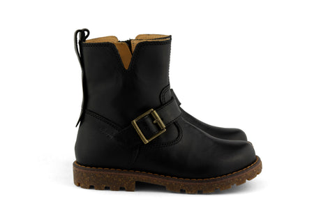 Ocra Girls Black Biker Boot