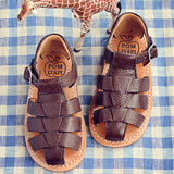 Pom d'Api Boys Dark Brown Sandal