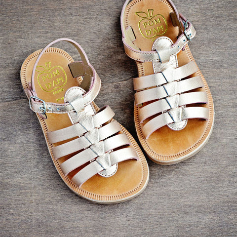 Pom d'Api Girls Rose Gold Sandal