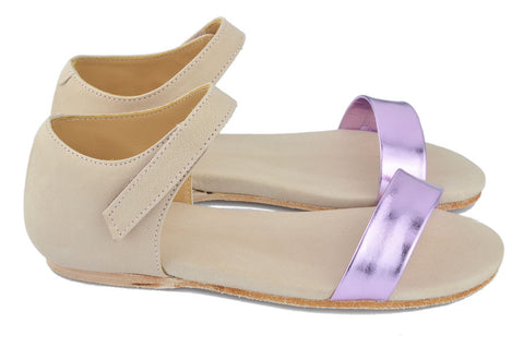 MAÁ Girls Metalic Pink and Blush Pink Sandal
