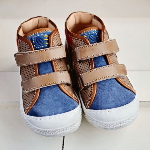 Ocra Boys Brown, Blue & Red Hightop