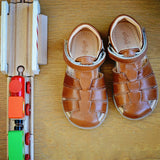 Ocra Boys Brown Sandal with Velcro Strap