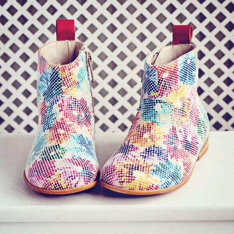 Pèpè Girls Ipanema Flowers Boot