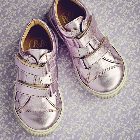 Pèpè Girls Metallic Lilac Trainer