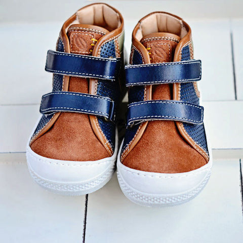 Ocra Boys Brown, Green & Navy Hightop