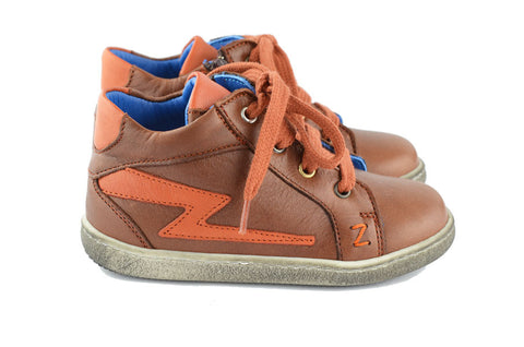 Zecchino d'Oro Boys Chocolate Brown Hightop