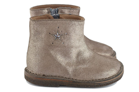 Pèpè Girls Shimmering Silver Boot with Star