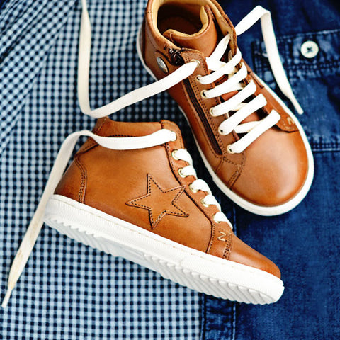 Zecchino d'Oro Boys Brown Star Hightop