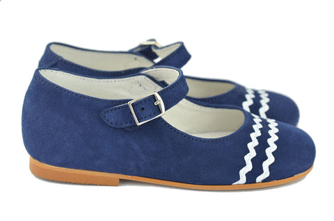 Crios Girls Navy Suede Mary Jane