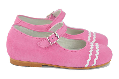 Crios Girls Pink Suede Mary Jane