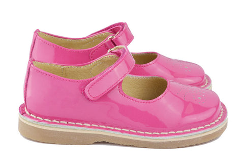 Clarys Girls Fuschia Pink Mary Jane