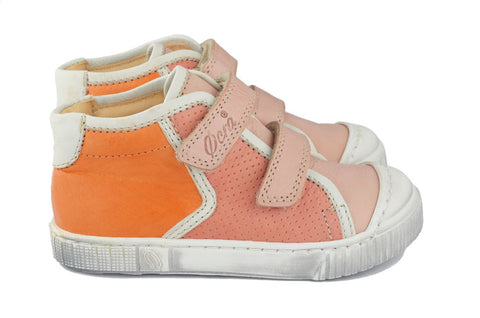Ocra Girls Orange & Pink Hightop