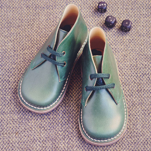 Clarys Boys Nappa Bottle Green Desert Boot