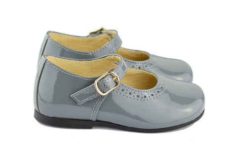 Clarys Girls Light Grey Mary Jane