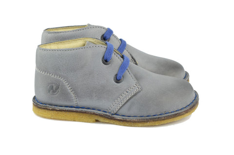 Naturino Boys Light Grey Lace-up Desert Boot