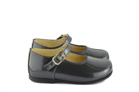 Clarys Girls Charcoal Grey Mary Jane