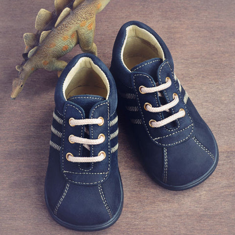 Clarys Boys Dark Navy Nubuck Boot