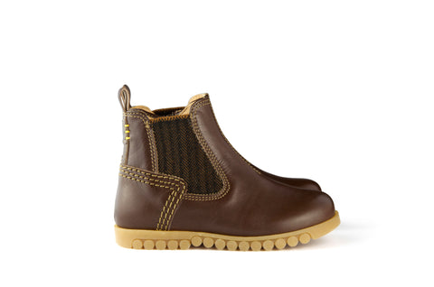 Ocra Boys Chestnut Brown Herringbone Boot