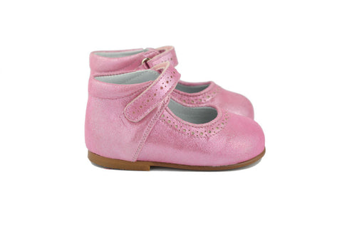 Eli1957 Girls Pink Shimmer Mary Jane