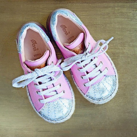 Ocra Girls Pink and Gold Trainer