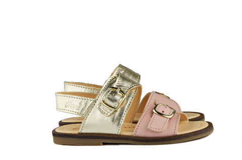 Ocra Girls Gold and Pink Sandal
