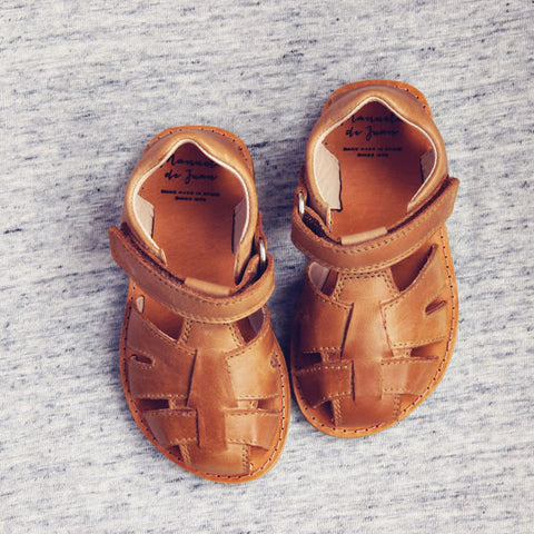 Manuela de Juan Boys Light Tan Sandal