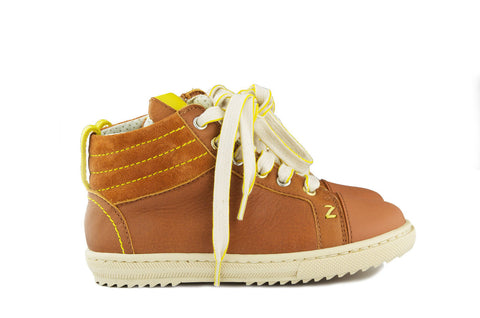 Zecchino Boys Brown Hightop