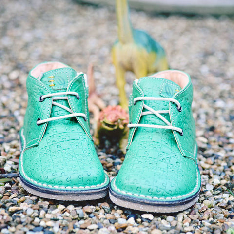 Ocra Boys Green Puzzle Boot