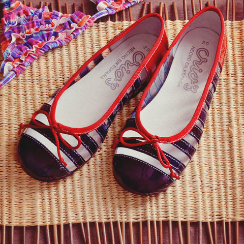 Crios Girls Navy & Red Ballerina
