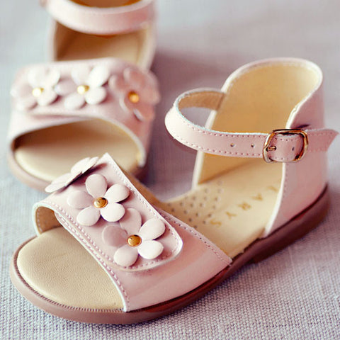 Clarys Girls Pink Flower Sandal