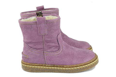Ocra Girls Lavender Wool-Lined Boot
