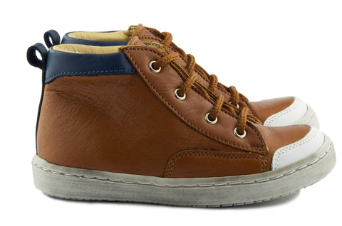 Two Con Me by PèPè Boys Brown Trainer
