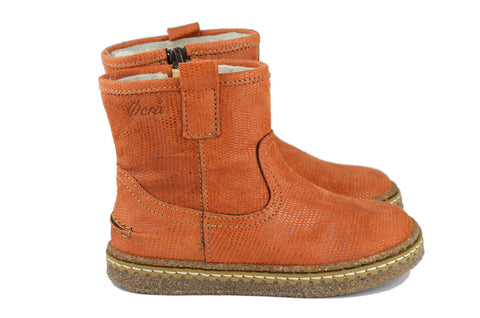 Ocra Girls Orange Wool-Lined Boot