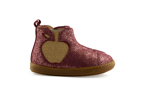 Shoopom Little Girls Red Berry Shimmer Boot
