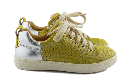 Ocra Girls Yellow and Silver Trainer