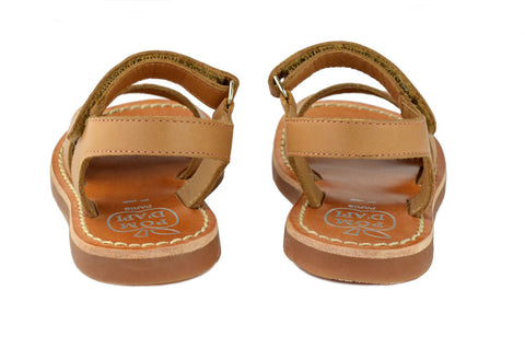 Pom d'Api Girls Camel Brown Sandal