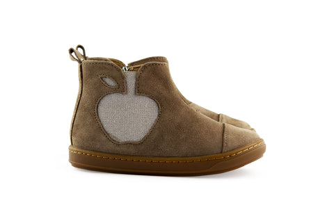 Shoopom Little Girls Taupe Shimmer Boot