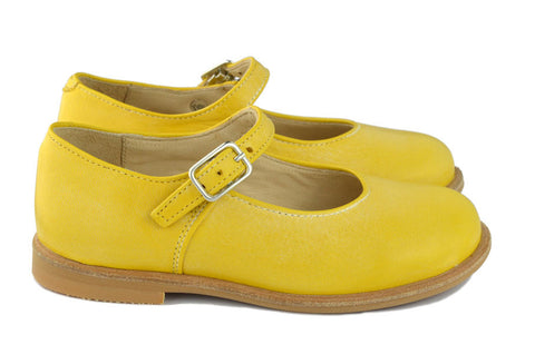 Manuela de Juan Girls Light Yellow Mary Jane