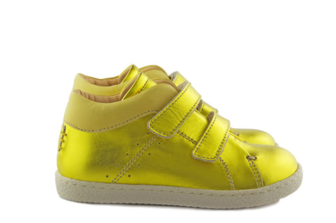 Ocra Girls Metallic Yellow Trainer