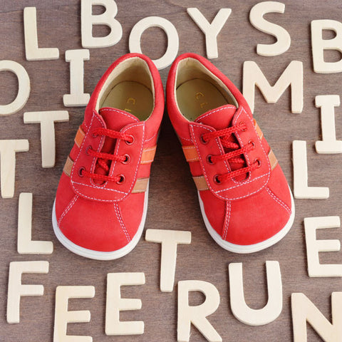 Clarys Boys Red Trainer