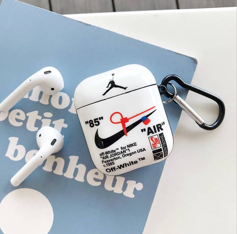 White Nike x OFF-White 'AIR' Case For AirPods 1/2