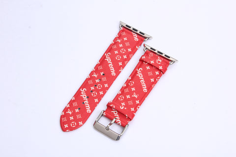 Red Supreme x Louis Vuitton Apple Watch Band