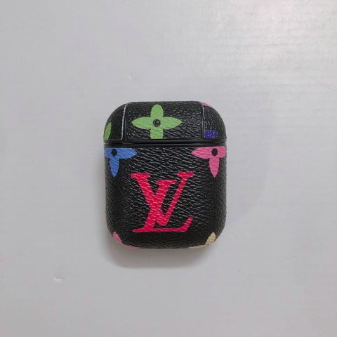 Black Rainbow Louis Vuitton 'LV' Case For AirPods 1/2