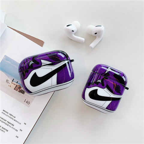 Purple Nike Air Jordan Cases For AirPods 1/2 And Pro