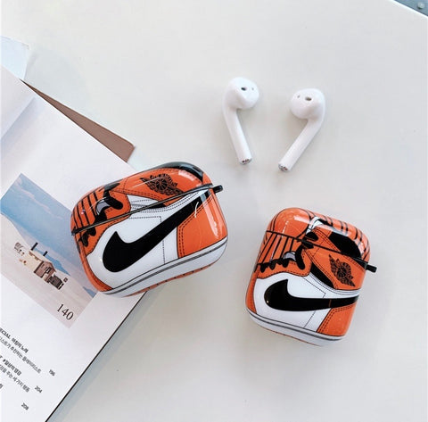 Orange Nike Air Jordan Cases For AirPods 1/2 And Pro