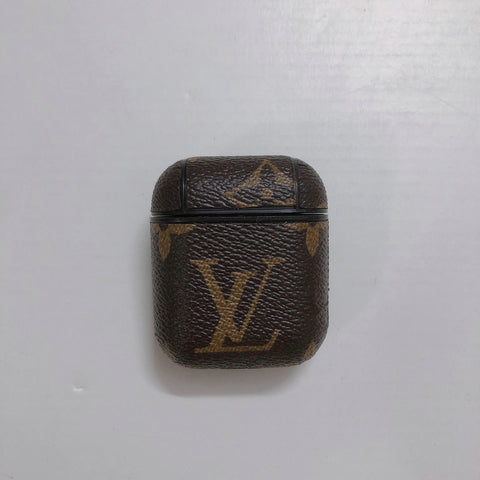 Brown Leather Louis Vuitton Case For AirPods 1/2